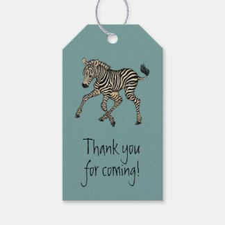 baby zebra pack of gift tags