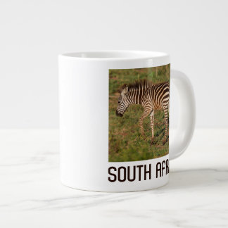 Baby Zebra walking, South Africa Large Coffee Mug