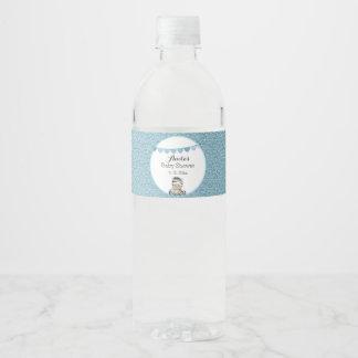 Baby Zebra Water Bottle Label