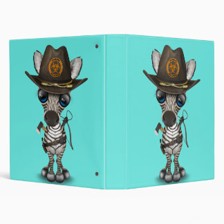 Baby Zebra Zombie Hunter Binder