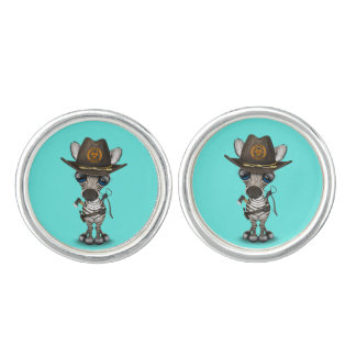 Baby Zebra Zombie Hunter Cuff Links