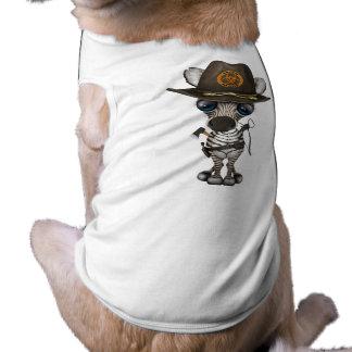 Baby Zebra Zombie Hunter Doggie T Shirt