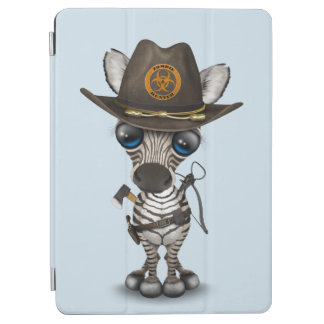 Baby Zebra Zombie Hunter iPad Air Cover