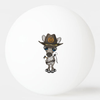 Baby Zebra Zombie Hunter Ping Pong Ball