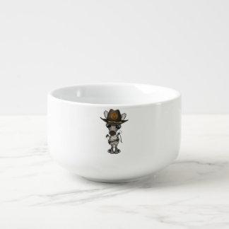 Baby Zebra Zombie Hunter Soup Mug
