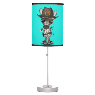 Baby Zebra Zombie Hunter Table Lamp