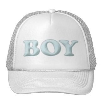 BABYBABY BOY BLUE BABY EXPECTING INFANT SHOWERS SP TRUCKER HAT