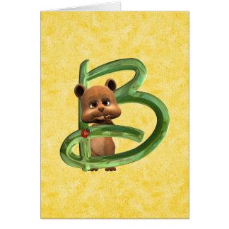 BabyBear Toon Monogram B Card