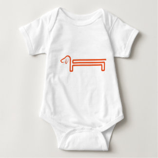 Babybody with dachshund tshirt