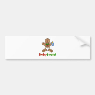 Babybread Gingerbread Man Bumper Sticker