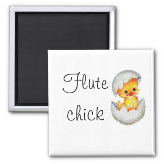 babychick, Flute, chick Square Magnet