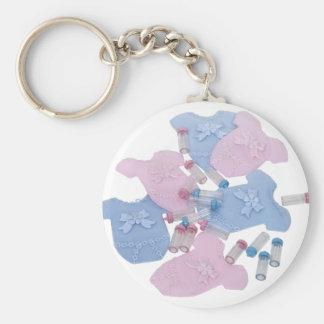BabyClothes061509 Basic Round Button Keychain