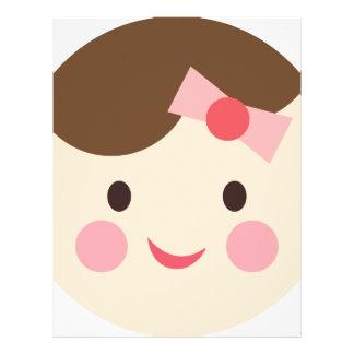 BabyGirlFace1 Personalized Letterhead