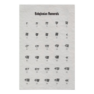 Babylonian Numbers Poster