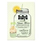 BaByQ Gender Reveal Baby Shower Twins Mint Invite