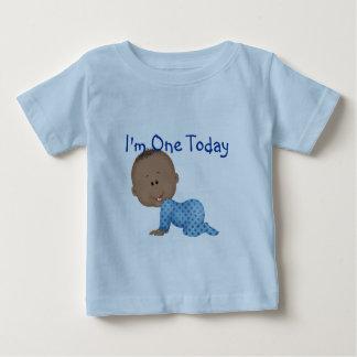 Baby's 1st  Birthday African American  Boy Tshirt
