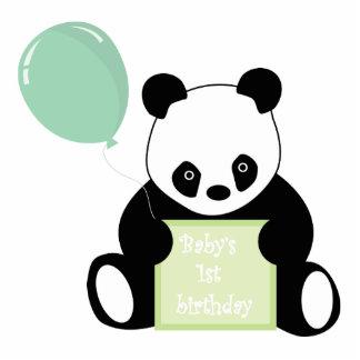 Baby's 1st birthday cute panda bear sculpture standing photo sculpture