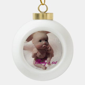 Baby's 1st ceramic ball ornament