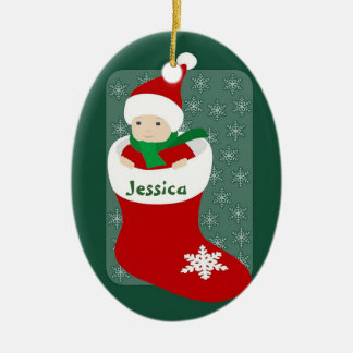 Baby's 1st ceramic oval ornament