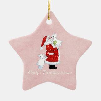 Babys 1st Christmas Ceramic Star Ornament