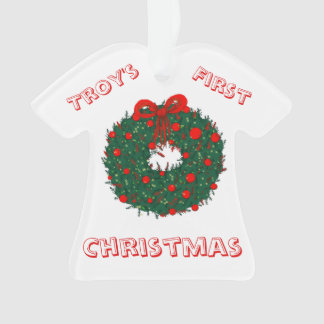 Baby's 1st Christmas Customizable Ornament