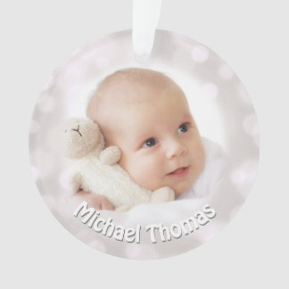 Baby's 1st Christmas Holiday Photo Ornament