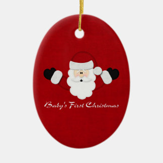 Babys 1st Christmas Ceramic Oval Ornament