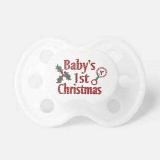 Babys 1st Christmas Pacifier
