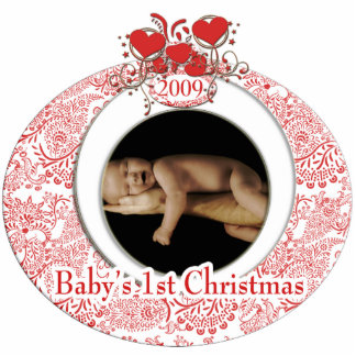 Baby's 1st Christmas Photo Sculpture Ornament