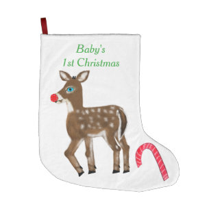 Baby's 1st Christmas Reindeer Large Christmas Stocking