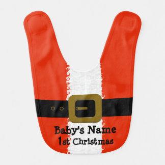 Baby's 1st Christmas Santa Bib