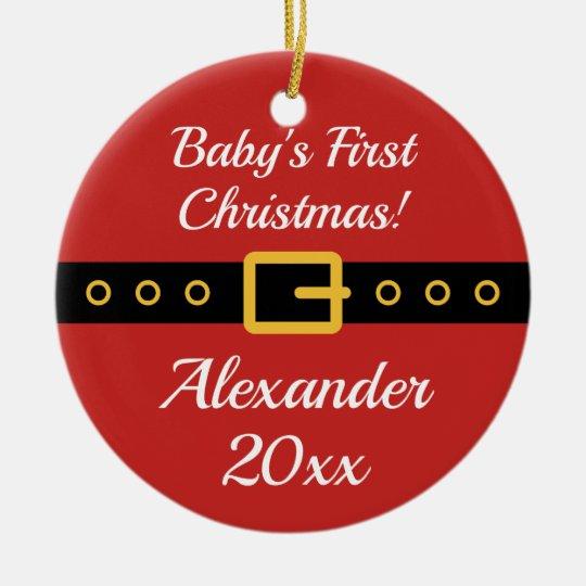 Baby's 1st Christmas Santa Claus tree ornament