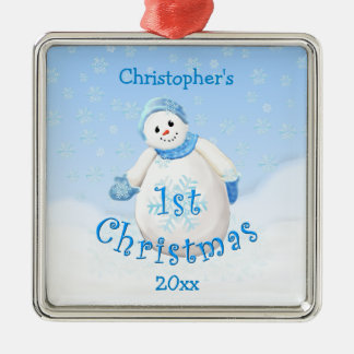 Baby's 1st Christmas Snowman Ornament