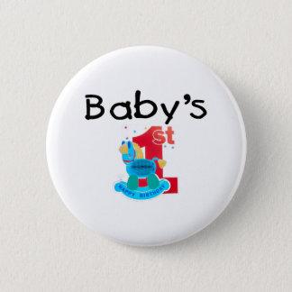 Baby's 1st Happy Birthday 2 Inch Round Button