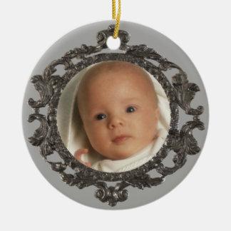 Babys 1st Photo Ceramic Ornament