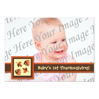 Baby's 1st Thanksgiving Flat Photo Greeting Card