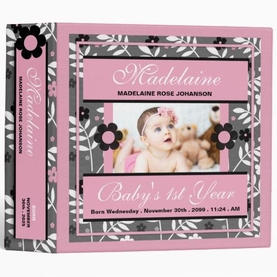 Baby's 1st Year | Photo Scrapbook | Pink Binder