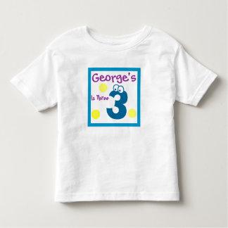 baby's 3rd Birthday, baby's third Toddler T-shirt