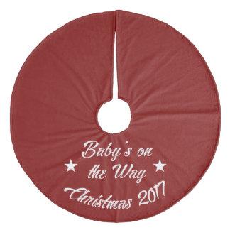 Baby's Announcement Under the Tree Fleece Tree Skirt