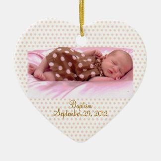Baby's Baptism Birth Pink Girl Ornament Custom