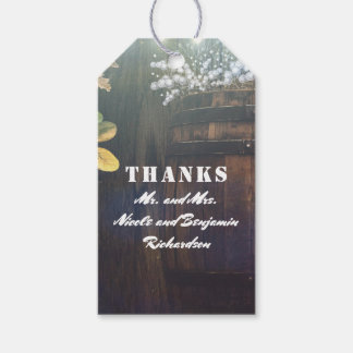 Baby's Breath Barrel Rustic Country Wedding Gift Tags