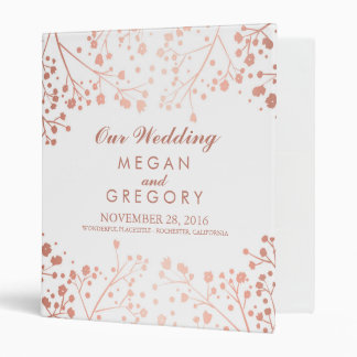 Baby's Breath Blush and White Wedding Vinyl Binders