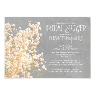 Baby's Breath Bridal Shower Invitations