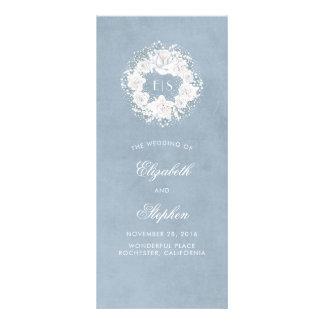 Baby's Breath Floral Monogram Dusty Blue Programs