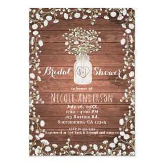 Baby's Breath Flowers & Wood Elegant Rustic Card