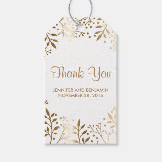 baby's breath gold and white wedding pack of gift tags