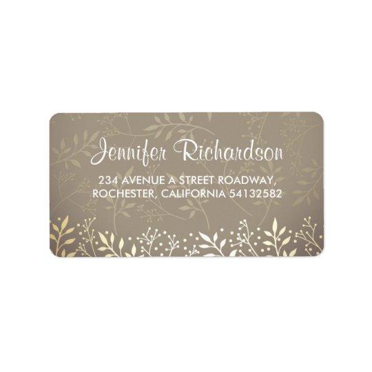 baby's breath gold foil wedding label
