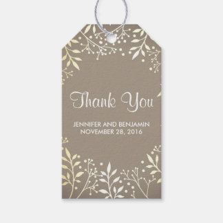 baby's breath gold foil wedding pack of gift tags