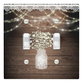 Baby's Breath & Lights Rustic Elegant Barn Wood Light Switch Cover