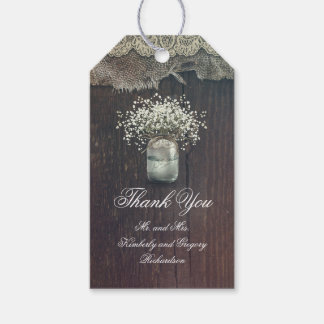Baby's Breath Mason Jar Rustic Country Gift Tags